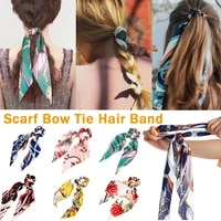 fashion scrunchies ponytail holder bow elastic hair bands for women scarf bow tie ribbon headwear hair accessories