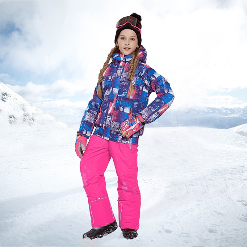 2021 Winter Girls Clothing Sets Warm Sport Kids Snow Suits Outdoor Teenager Children Ski Tracksuit Windproof Baby Child Outfit enlarge