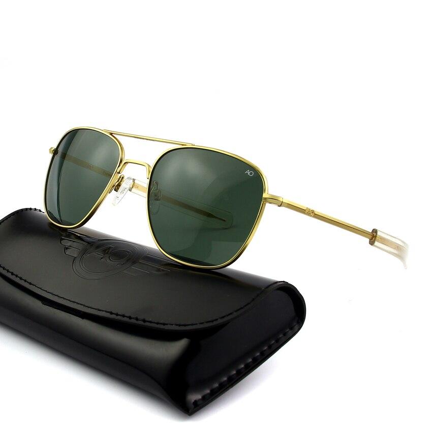 Sunglasses Men High Quality Brand Rectangle American Army Military Optical AO Sun Glasses Polit Ocul