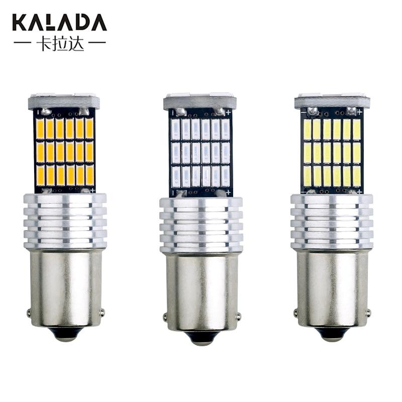 10 Uds LED 1156 Ba15s P21W 1157 Bay15d P21/5W intermitente Led para coche lámpara T20 7443 W21/5W T25 3157 P27/7W luz de freno Luz de 12V Auto bombilla