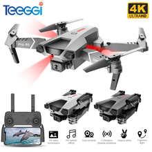 Teeggi P5 мини-Дрон с HD 4K двойной камерой профессиональная аэрофотосъемка инфракрасное препятствие избегание Квадрокоптер RC вертолет