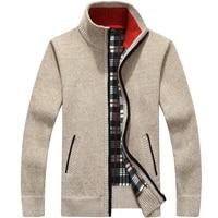 sweater men autumn winter cardigan sweatercoats male thick faux fur wool mens sweater jackets casual knitwear plus size m 3xl