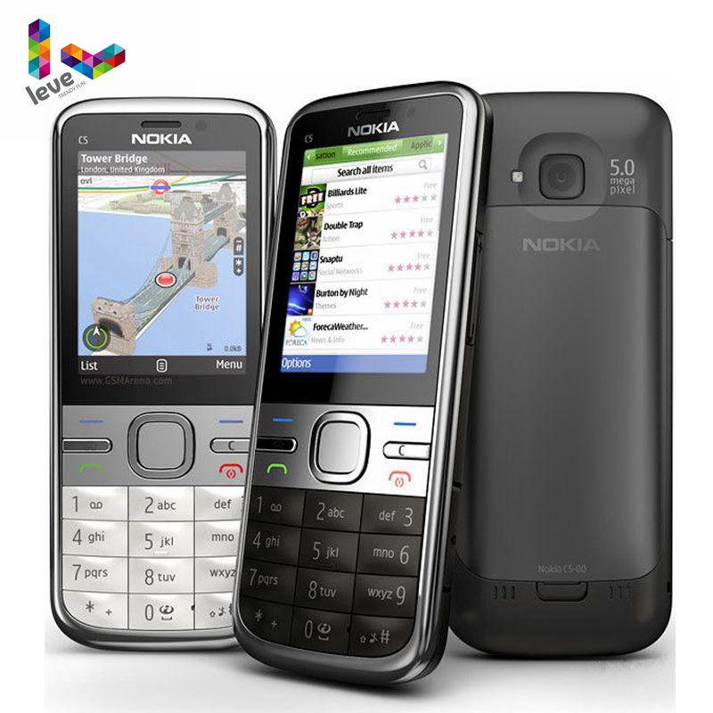 Original Nokia C5 Unlocked Nokia C5-00 C5-00i 3.15&5MP Bluetooth Support Russian&Hebrew&Arabic Keybo