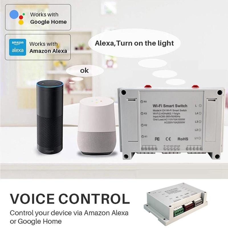 gtbl wifi interruptor de luz inteligente 4 canais interruptor de controle remoto