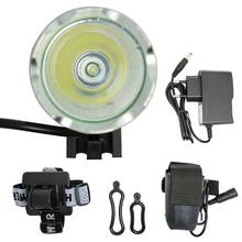 2000lm XML T6 LED Bicycle Front Light 3 Mode Waterproof Bike Headlight Cycling Flashlight + 8.4V 6400mAh Battery Pack + Headband