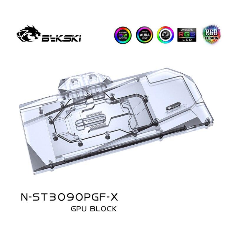 استخدام كتلة الماء من Bykski لبطاقة ZOTAC RTX3090 24G6X PGF OC/ RTX 3080 10G6X PGF OC GPU/غطاء كامل من النحاس المبرد/RGB Light