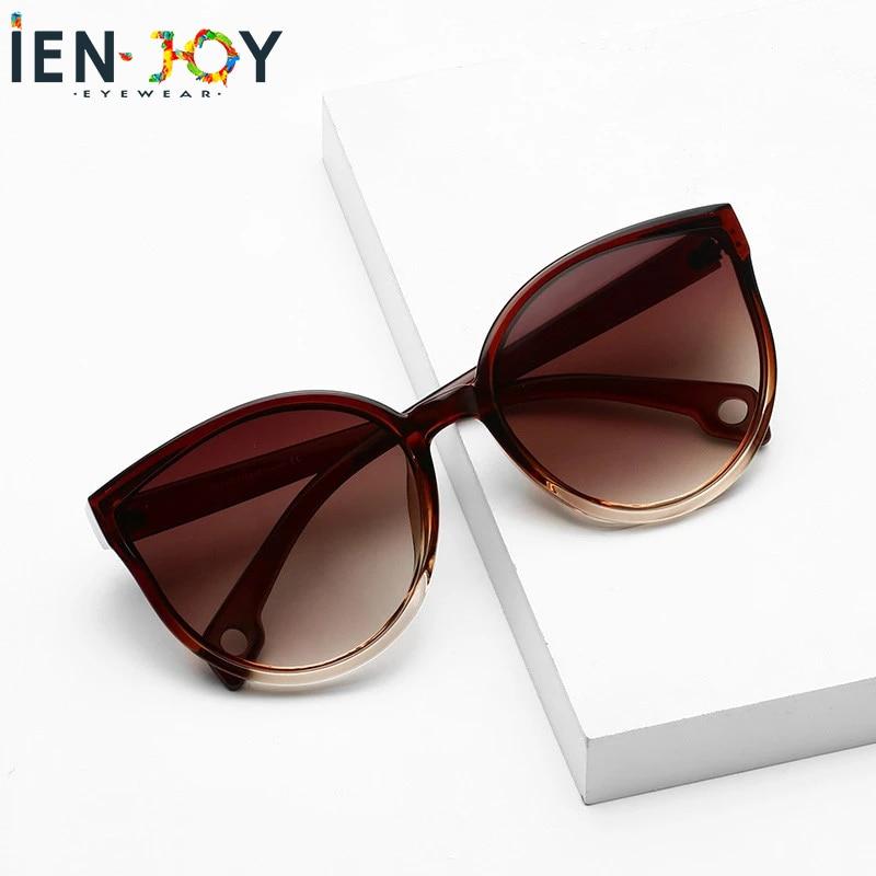 IENJOY Cat Eye Women Sunglasses Brand Designer Sun Glasses Female Lady Eyeglass Cat Eye Driver Goggl