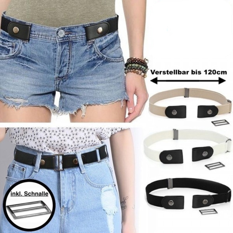 Lazy Stretch Belt For Women No Buckle Designer Elastic Waistband Mens Luxury Convenient Without Deduction Hot Sell