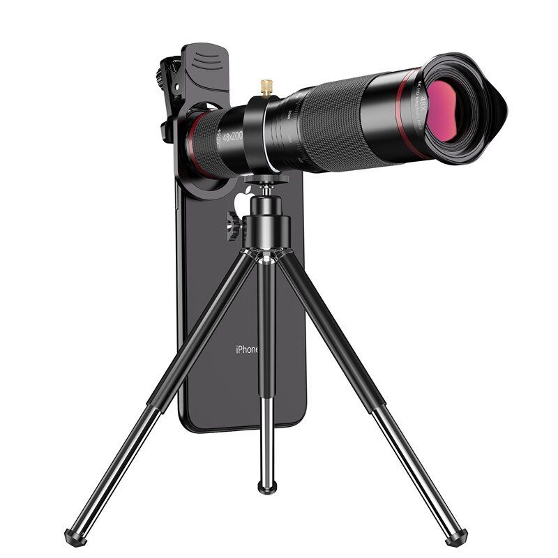 48X 4K HD Telescope for Cell Phone Mobile Telephone Camera Lens +Tripod Monocular Telephoto Zoom Len