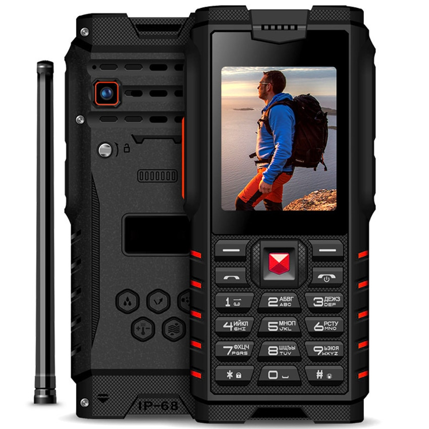 "Ioutdoor 4500mAh IP68 impermeable a prueba de golpes ruso teclado resistente teléfono móvil 2,4 ""walkie-talkie intercom FM teléfono móvil"