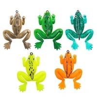 1pcs silicone frog soft fishing lures single hook fake frog bait sinking fishing swimbait tackle 5 2g 6cm