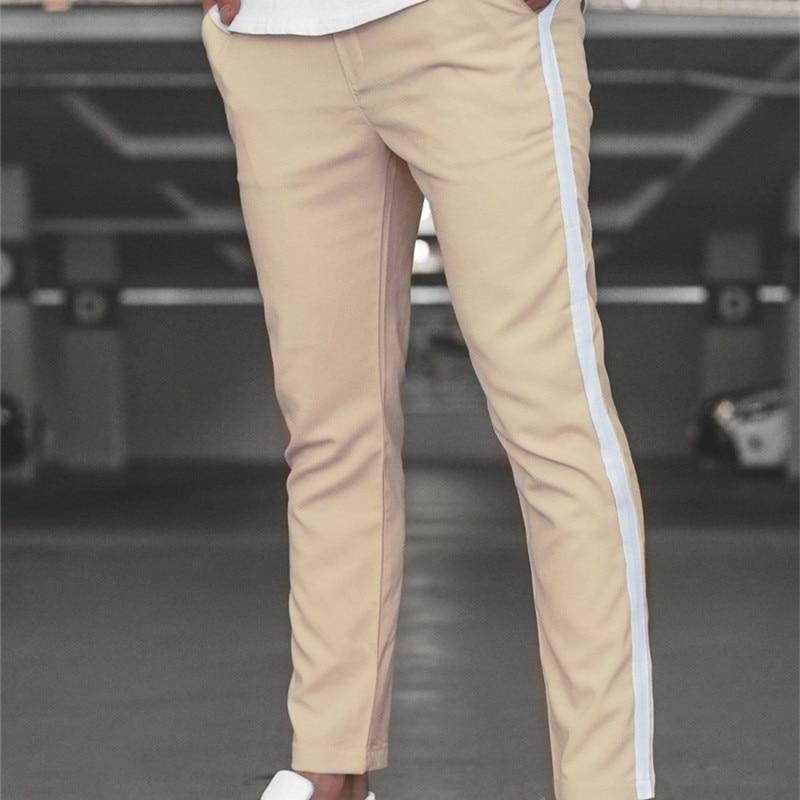 2020 Men Casual Pants Skinny Trousers Track Bottom Sweatpants Streetwear Man Pant Side Stripe Fashion Mens Joggers Pants