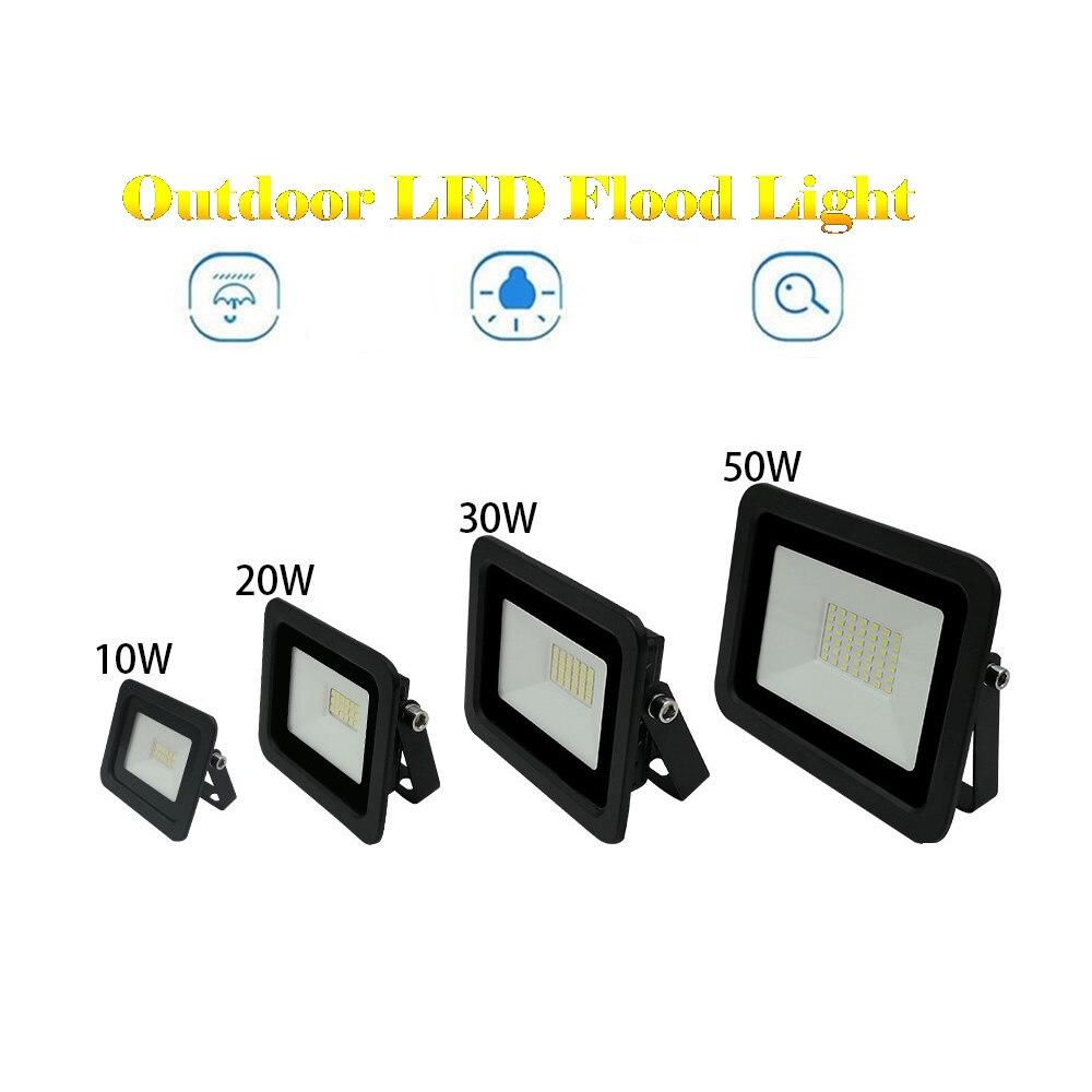 220V LED FloodLight Reflector Spotlight outdoor Exterior Street wall Light Lamp Outdoor Courtyard Garden Garage Security Lamp Wa