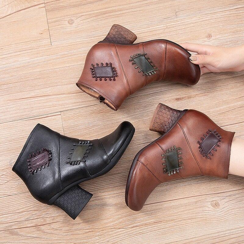 جديد النساء أحذية الشتاء النساء شقة حذاء من الجلد موضة مريحة مستديرة حذاء كاجوال جلد حذاء امرأة غير رسمي