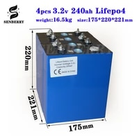 new 4pcs lifepo4 3 2v200ah new lifepo4 rechargeable battery 3 2v200ah battery suitable for 12v200ah solar us europe tax free