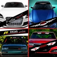 car stickers front windshield prevent sunlight reflection for seat leon arona decoration decals car accessories