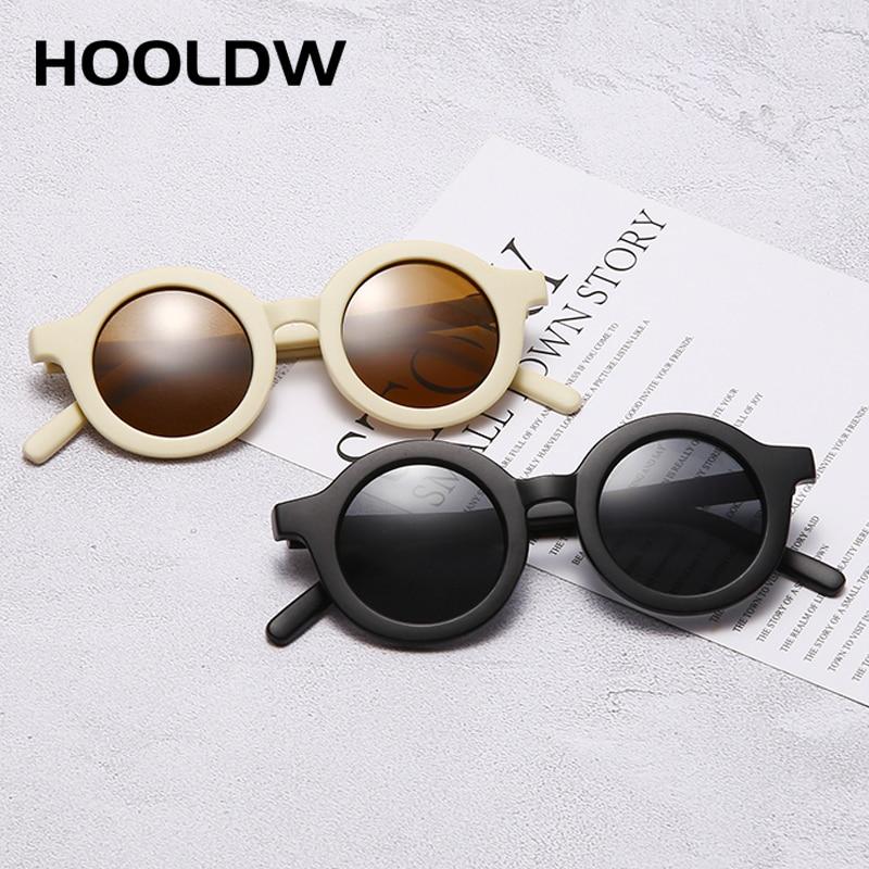 HOOLDW-Gafas De Sol redondas para niños, para exteriores, viajes, protección UV400