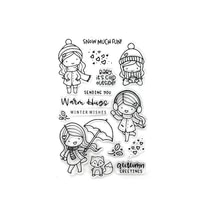 new clear stamp plastics soft seal elf witch cute girl snowman letters insect stant deer decor handbook transparent diy stencil
