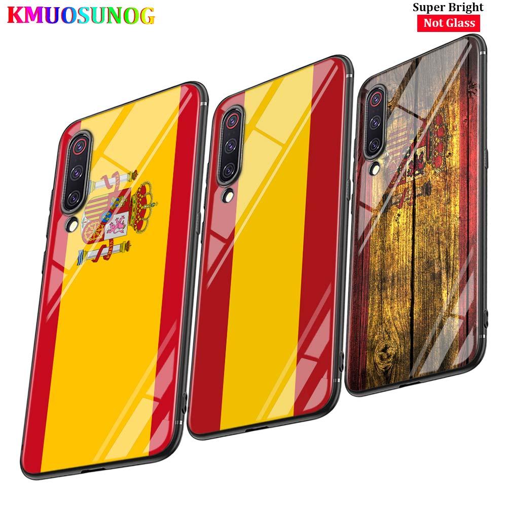 Черная крышка Испания национальных флагов для Xiaomi Mi A1 A2 A3 5X6X6 8 9 Lite CC9 F1 9T 9TPro играть глянцевый чехол для телефона