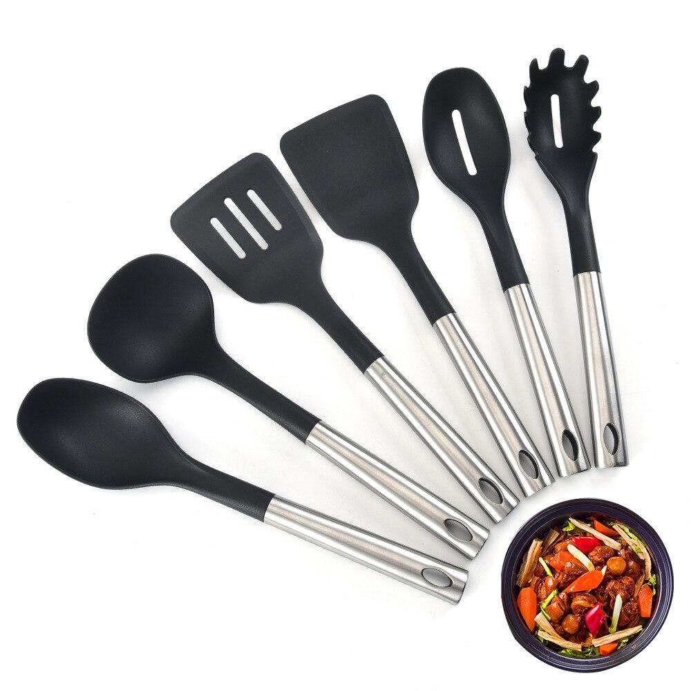 Комплект из 6 шт. силиконовая посуда и набор ложка бытовая техника набор ложек и бытовая техника для кухонных ножей кухонная лопатка набор к...