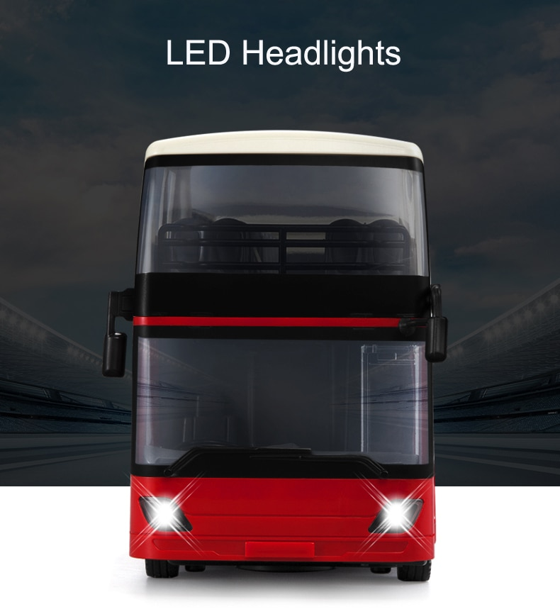E640 1:18 Rc Car Travel Bus Alloy Model 2.4G Radio Remote Control Bus Car with Music Headlights Music One Key Open Door Toys Boy enlarge