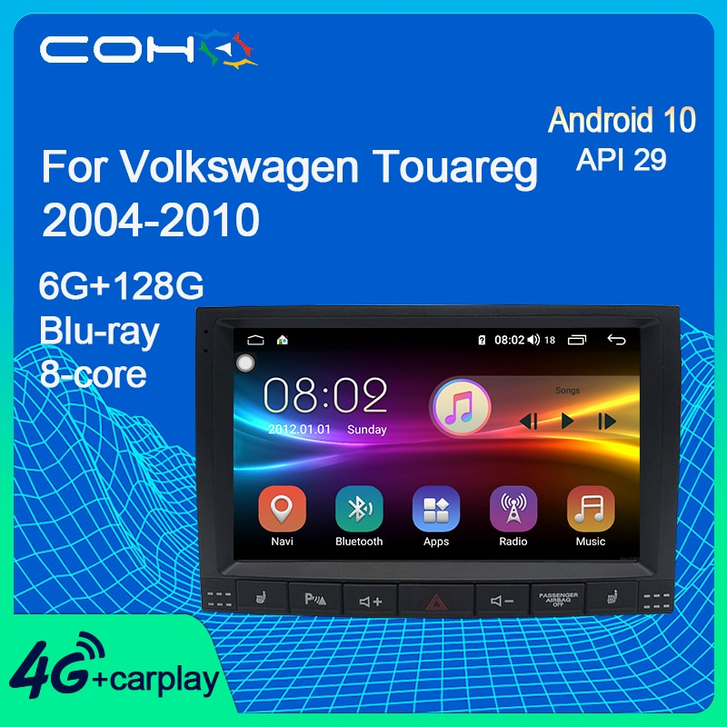 COHO For Volkswagen Touareg 2004-2010 Navigation Stereo Car Multimedia Player Android 10.0 Octa Core