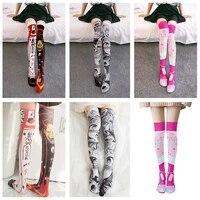 1 pair sexy harajuku stockings girls korean japanese kawaii thin socks casual thigh high knee socks womens long socks