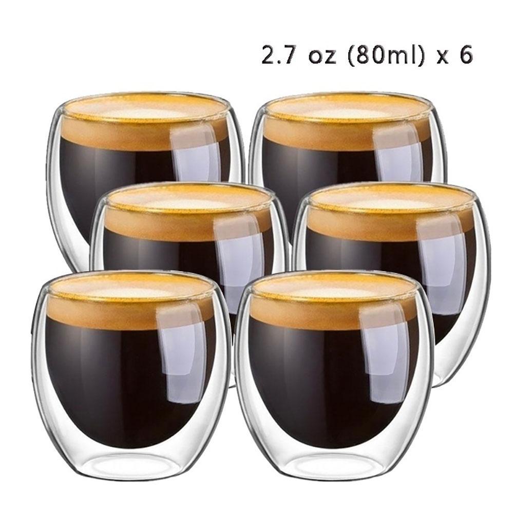 QQ LIFE-taza de café de cerámica creativa, vaso aislado expreso té de...