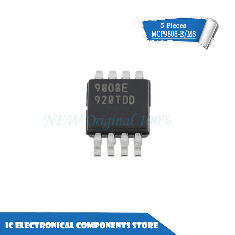 Nuevo original MCP9808-E/MS 9808 SOP-8 SENSOR de temperatura I2C/SMBUS 8MSOP MCP9808T-E/MS 5 unids/lote