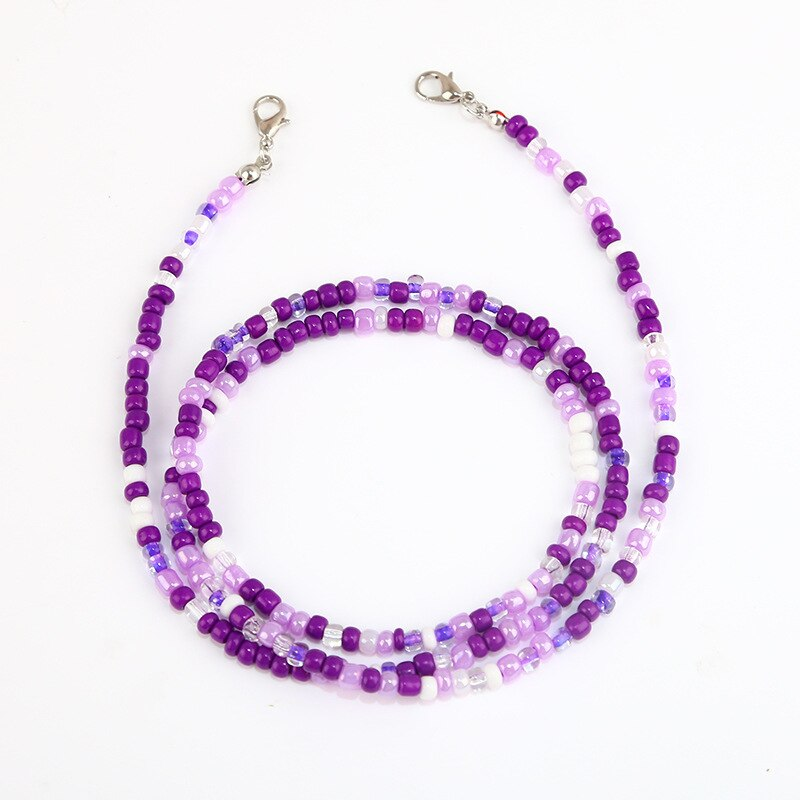 1pc New Fashion Unisex Anti-lost Acrylic Beaded Chain Face Mask Lanyards Reading Glasses Chain Neck Straps Mask Cord Holder