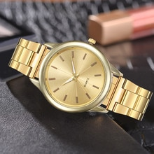 Simple Gold Watches Women Business Full Stainless Steel Watch Dress Social Analog Wrist Watches Fema