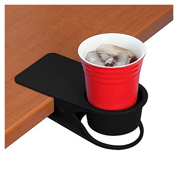 Soporte de taza caliente Clip-Mesa de oficina en casa escritorio Clip lateral enorme bebida de agua bebida Soda taza de café titular de la taza Clip del platillo