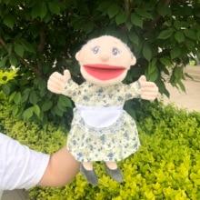 30 cm bouche déplacer grand-mère fille grand-père famille marionnette dessin animé pompier Steele penny Norman chiot jouets pour enfants