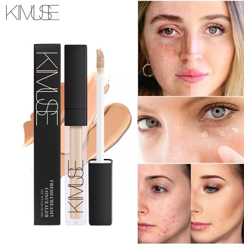 Crema correctora de cara KIMUSE, cobertura perfecta de poros, círculos oscuros, iluminar, Base correctora líquida, Base Maquiagem Corretivo