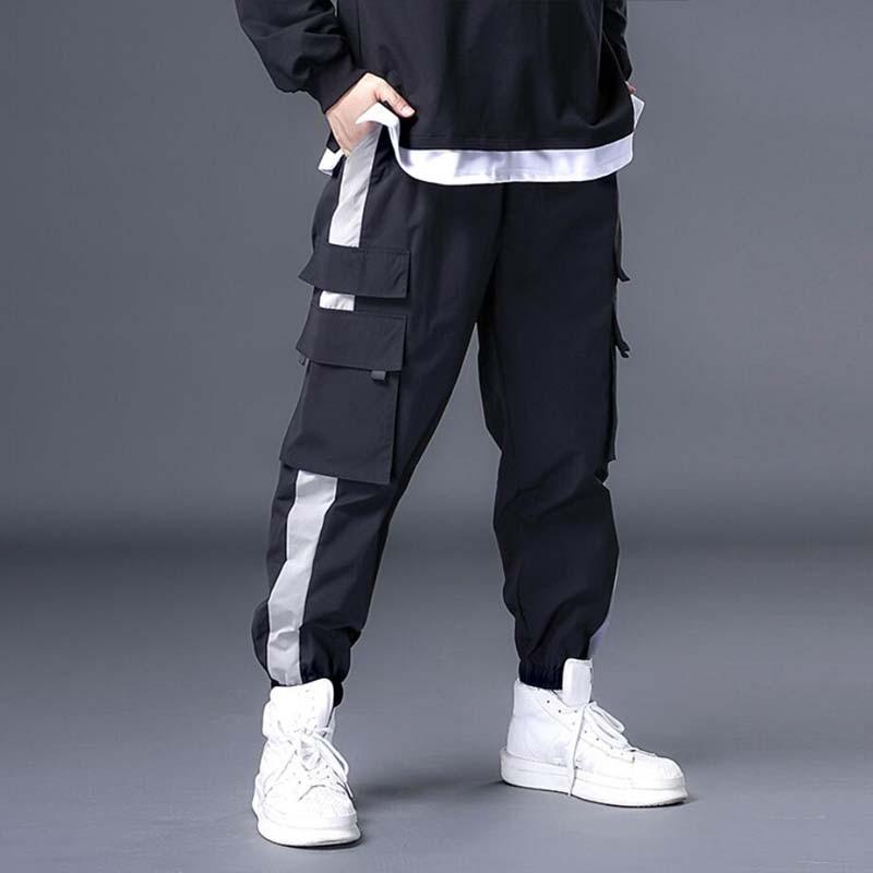 Streetwear Men's Multi Pockets Cargo Harem Pants Hip Hop Casual Male Track Pants Joggers Trousers Fashion 7xl Men Pants streetwear cargo pants hip hop casual multi pockets harem pants male joggers trousers fashion harajuku trousers pants for men