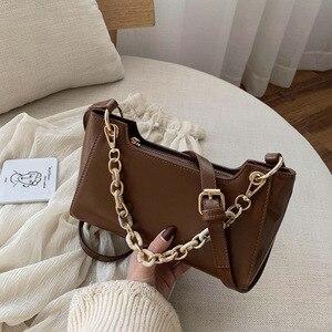 Vintage Baguette Bag  Female Popular Designer Underarm Shoulder Bag for Women Handbags Purses Messenger Bag PU Leather Bag