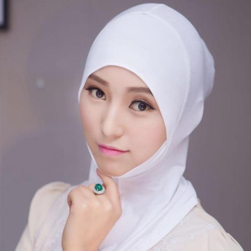 Мусульманский женский платок на голову хлопковый платок, эластичный хиджаб, тюрбан, головной платок, шапочка, шаль, исламский шарф, внутренн...