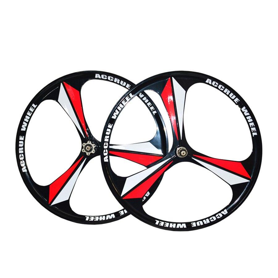 Горный велосипед магниевого сплава колеса 26 дюймов 3 Спицы Rorary wheelset колеса велосипеда MTB велосипеда дисковые тормозные диски