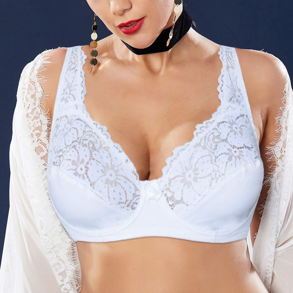 إمرأة الدانتيل Bralette حمالات الصدر السيدات الأزهار مبطن مثير الملابس الداخلية Underwired زائد حجم حمالة أعلى الملابس الداخلية