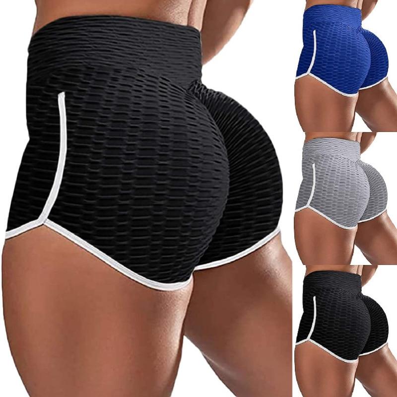 Women Butt Lift Casual Sweat Yoga Shorts Bubble Butt Sport Short Pants Trousers PUSH UP LEGGING Plus