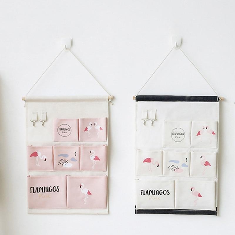 Wall Storage Bag Mounted Wardrobe Closet Hanging Organizer ToyBag Bedside Sundries Organizer Hanging Cosmetic Storage Bags