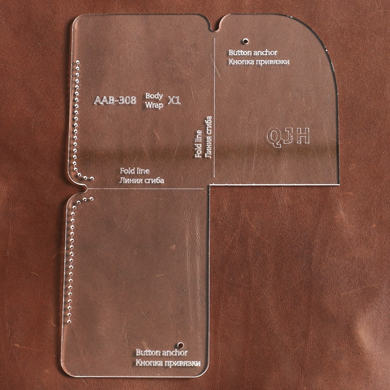 New DIY Handmade Fashion Personality Card holder Coin Purse Acrylic Template Handmade Leather Craft Bag Template 8.5cm*11cm