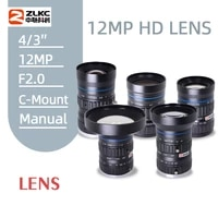 12mp cctv lens 12mm 16mm 25mm 35mm 50mm fixed focal fa lens 43 c mount manual industrial lens suitabel for machine vision lens