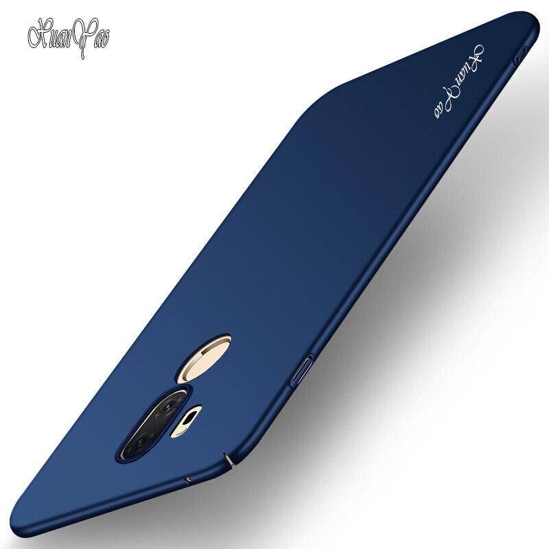 XUANYAO caja del teléfono para LG V10 V20 V30 K10 2018 Slim mate Coque para LG G3 G4 G5 G6 G7 funda ThinQ de cubierta trasera de PC duro
