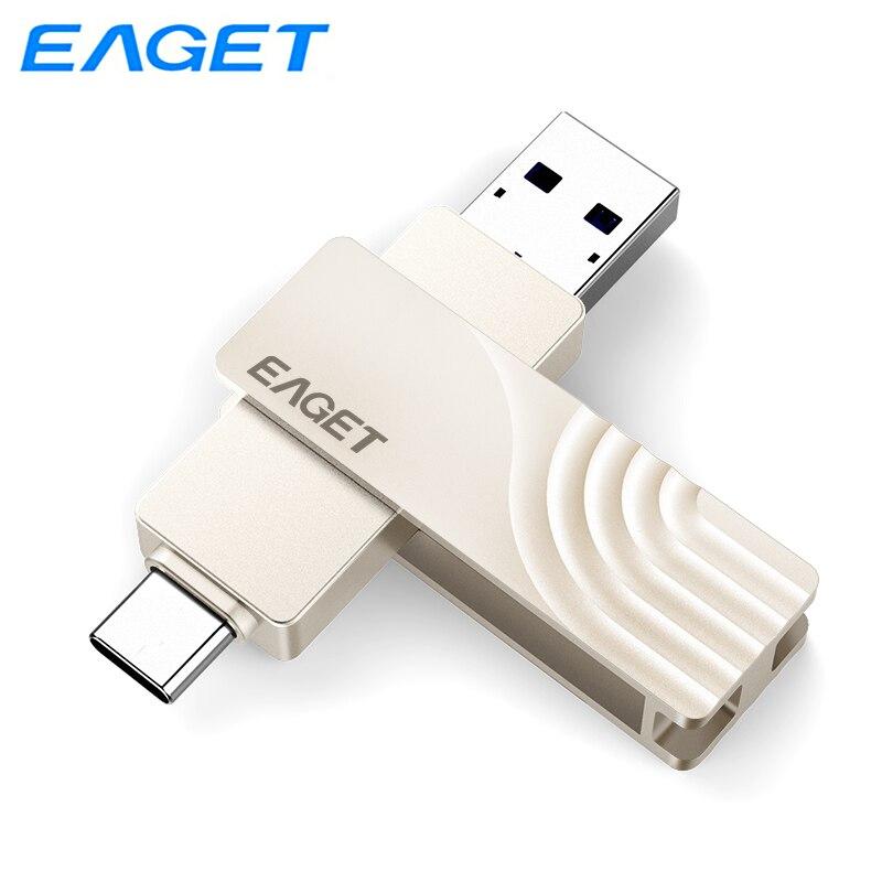 محرك أقراص فلاش إيجت USB 3.0 عالي السرعة 256GB 128GB 64GB 32GB محمول بندريف مقاوم للصدمات حافظة معدنية USB 3.0 قلم محرك CF30