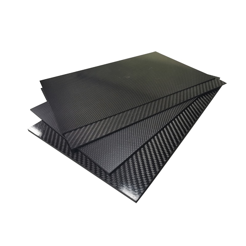 400mm X 200mm Real Carbon Fiber Plate Panel Sheets 0.5mm 1mm 1.5mm 2mm 3mm 4mm 5mm thickness Composite Hardness Material for RC enlarge