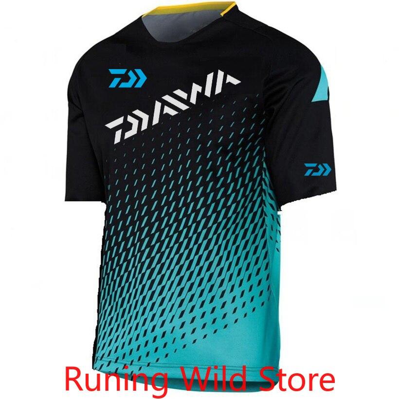 2020 verano Daiwa Dawa camisa de pesca hombres deportes al aire libre transpirable camuflaje pesca camisa senderismo Camping ropa de pesca