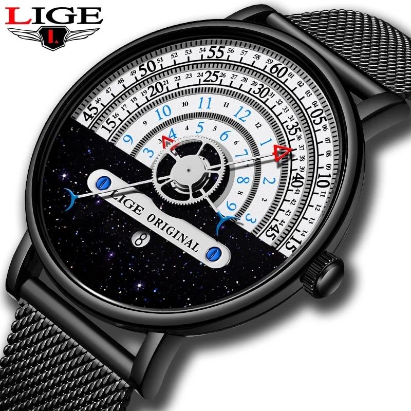 LIGE Women Watches Top Brand Luxury Stainless Steel Strap Wristwatch for Women Clock Gift Stylish Quartz Ladies Watch Relojs+Box enlarge