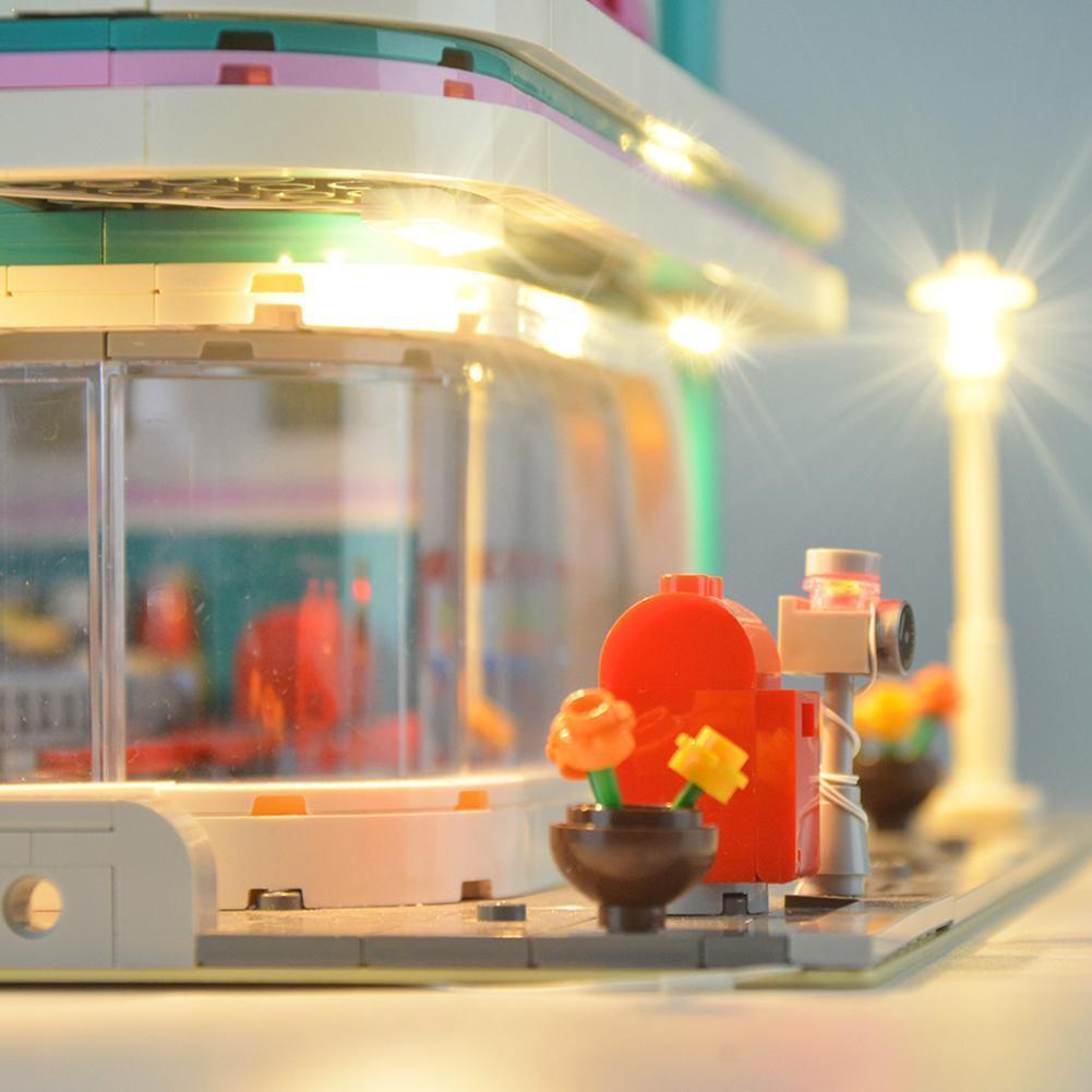 LED طقم الإضاءة بنة الجمعية لتقوم بها بنفسك مصباح مناسبة العشاء بناء خبير ل ليغو الخالق 10260 وسط المدينة كتلة X9A0