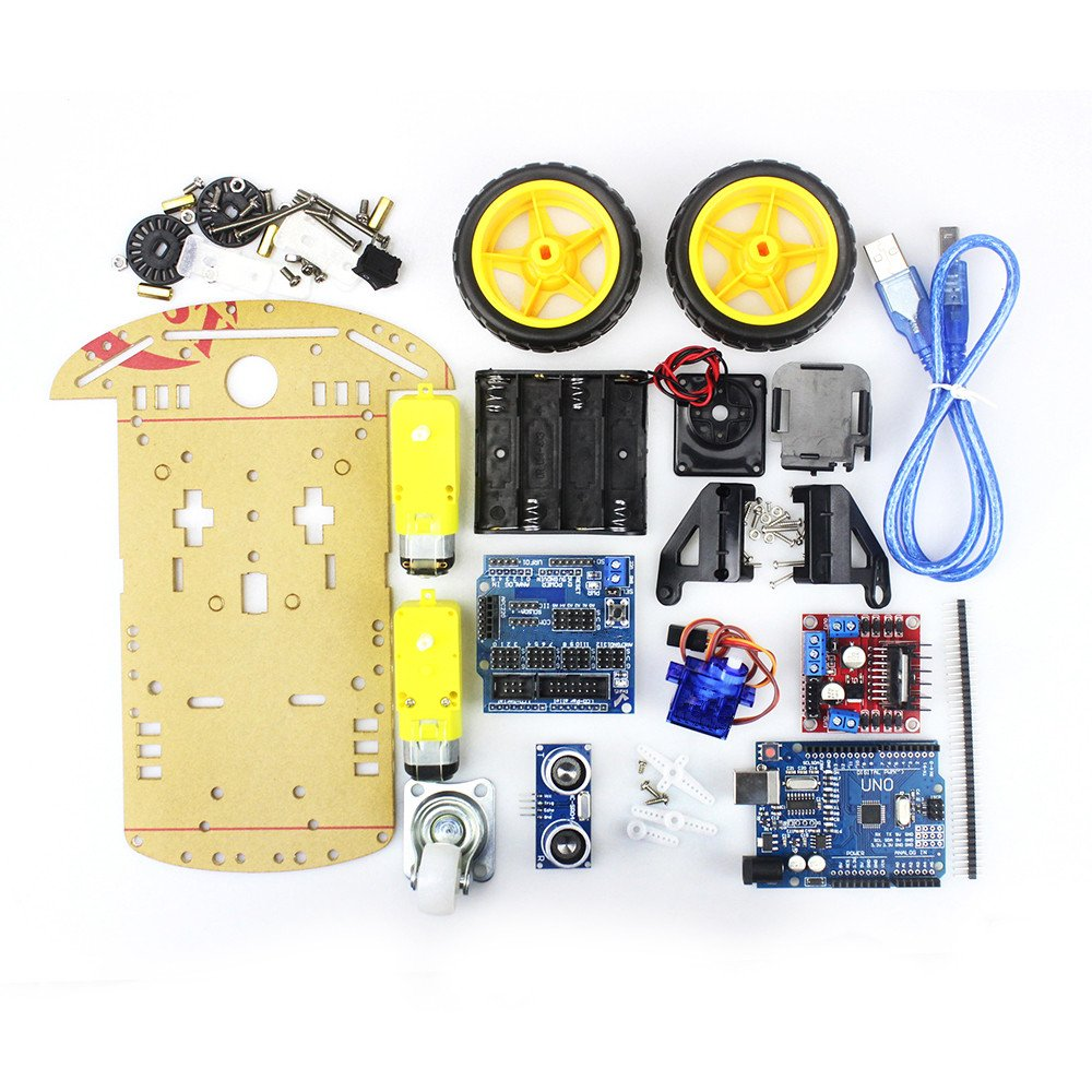 Cheapest Smart Robot Motor Car Chassis Kit Avoidance Tracking Speed Encoder Battery Box 2WD Ultrasonic Module for Arduino Diy